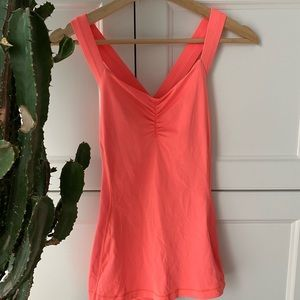 Neon pink strappy back lululemon top
